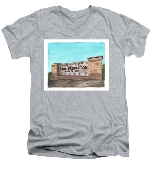 Camp Pendleton Welcome Men's V-Neck T-Shirt