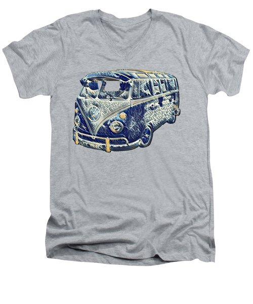 Camper Van Waves Men's V-Neck T-Shirt by John Colley