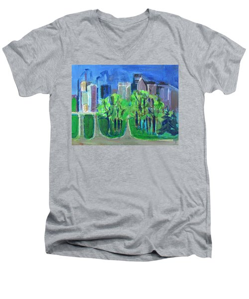 Campus Men's V-Neck T-Shirt by Betty Pieper
