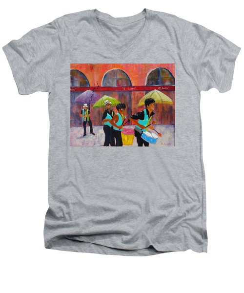 Can You Hear The Music? Men's V-Neck T-Shirt