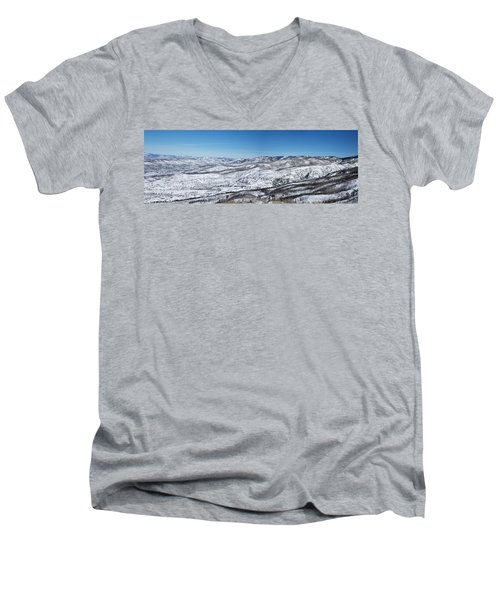 Can You Spot The Volcano Men's V-Neck T-Shirt