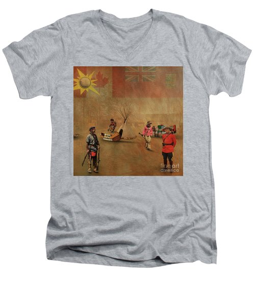 Canada 150 Years Old Men's V-Neck T-Shirt