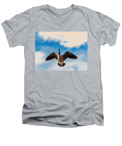 Canada Geese In Spring Men's V-Neck T-Shirt