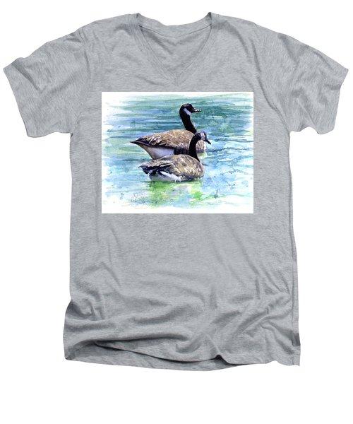 Canada Geese Men's V-Neck T-Shirt