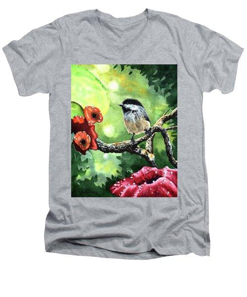 Canadian Chickadee Men's V-Neck T-Shirt