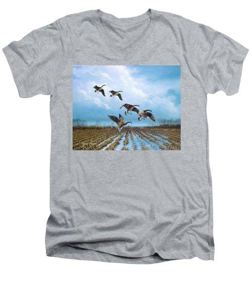 Canadian Cold Front Men's V-Neck T-Shirt