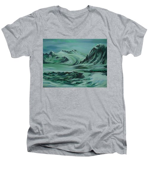 Canadian North Men's V-Neck T-Shirt by Anna  Duyunova