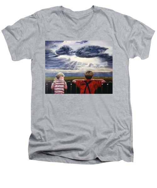 Canadian Prairies Men's V-Neck T-Shirt
