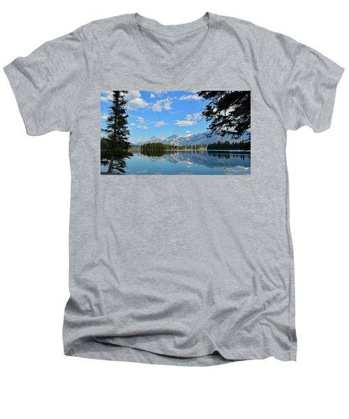 Canadian Rockies No. 4-1 Men's V-Neck T-Shirt