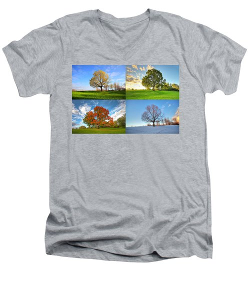 Canadian Seasons Men's V-Neck T-Shirt