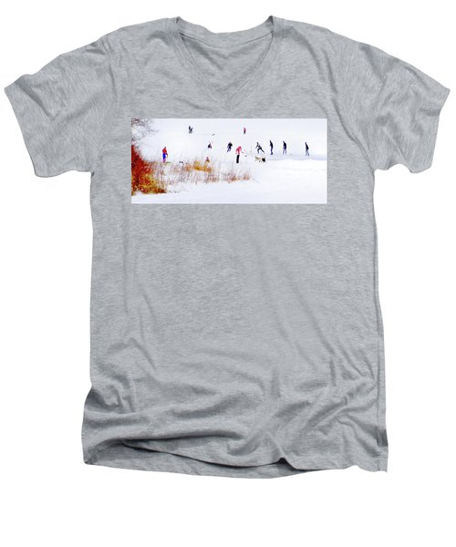 Men's V-Neck T-Shirt featuring the photograph Canadiana by John Poon