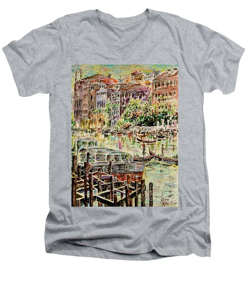 Canale Grande Men's V-Neck T-Shirt by Alfred Motzer