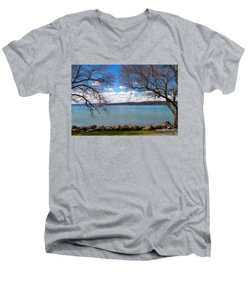 Canandaigua Men's V-Neck T-Shirt by William Norton