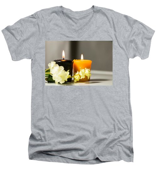 Candle Men's V-Neck T-Shirt