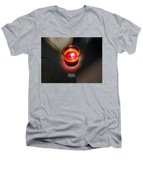 Candle Inspired #1173-3 Men's V-Neck T-Shirt by Barbara Tristan