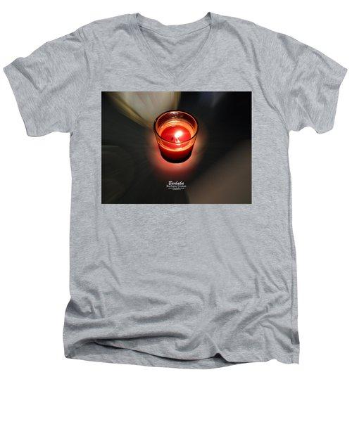Candle Inspired #1173-3 Men's V-Neck T-Shirt