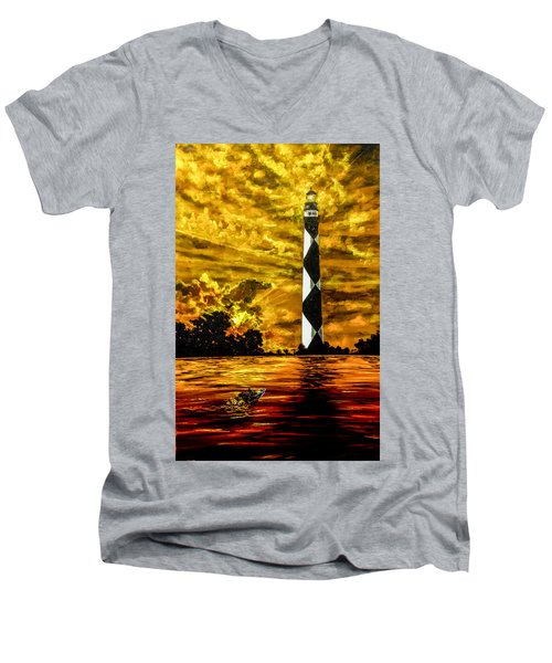 Candle On The Water Men's V-Neck T-Shirt