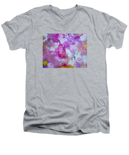 Candy Clouds Men's V-Neck T-Shirt by Tracy Bonin