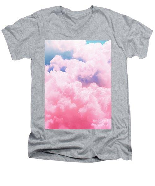 Candy Sky Men's V-Neck T-Shirt