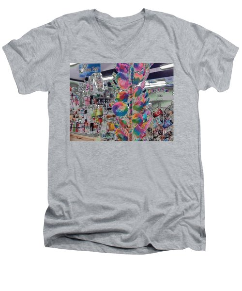 Men's V-Neck T-Shirt featuring the photograph Candy Store by Kathie Chicoine