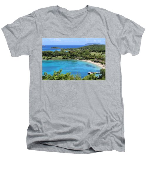 Caneel Bay St. John Men's V-Neck T-Shirt