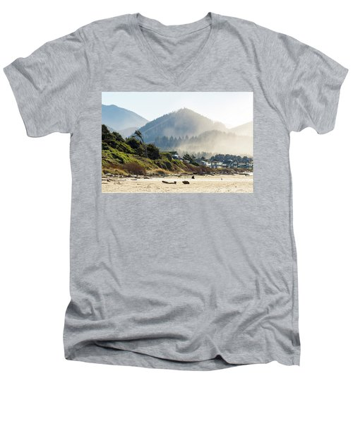 Cannon Beach Oceanfront Vacation Homes Men's V-Neck T-Shirt