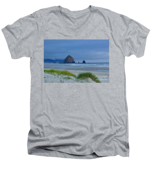 Cannon Beach Men's V-Neck T-Shirt