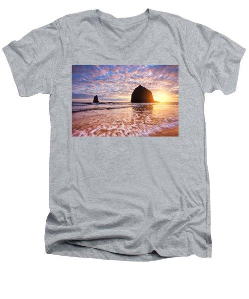Cannon Beach Sunset Classic Men's V-Neck T-Shirt