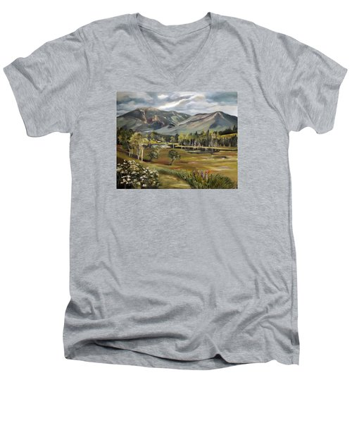 Cannon Mountain From Sugar Hill New Hampshire Men's V-Neck T-Shirt