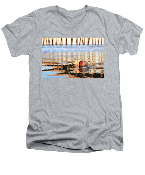 Cannonball Jellyfish Beached Men's V-Neck T-Shirt