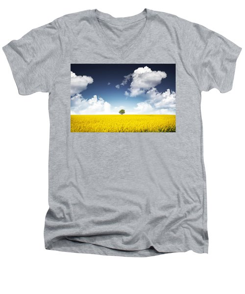 Canola Field Men's V-Neck T-Shirt