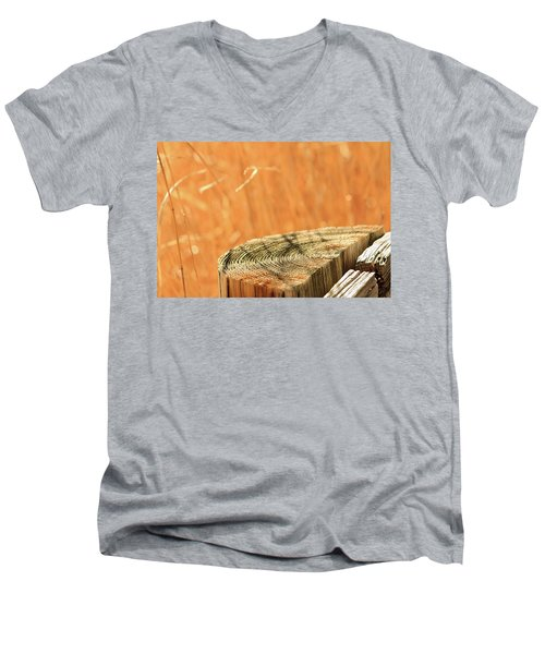 Cantigny Fence Post Men's V-Neck T-Shirt