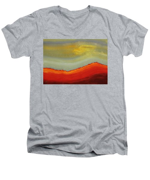 Canyon Outlandish Original Painting Men's V-Neck T-Shirt