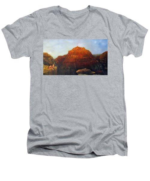 Canyon Overlook II Men's V-Neck T-Shirt by Loretta Luglio