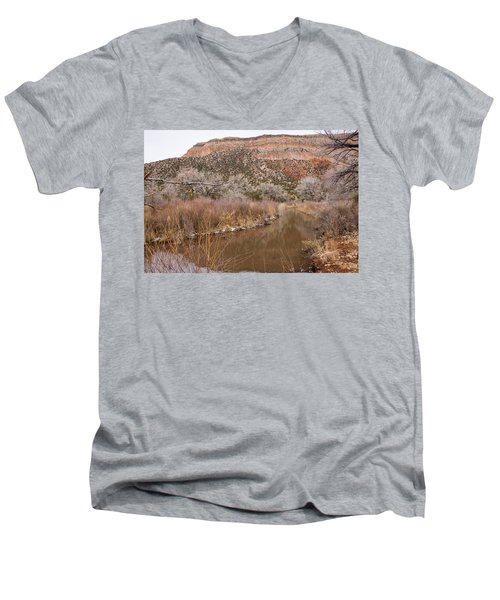 Canyon River Men's V-Neck T-Shirt by Ricky Dean