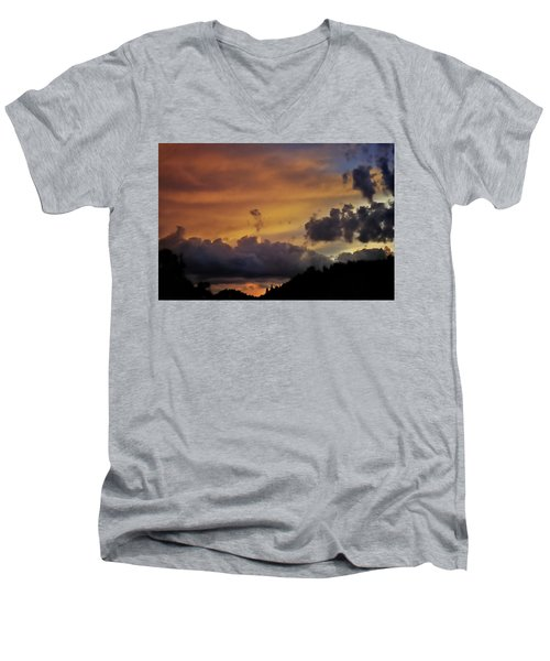 Canyon Sunset Men's V-Neck T-Shirt