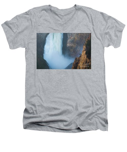 Men's V-Neck T-Shirt featuring the photograph Canyon Sunset  by Vincent Bonafede