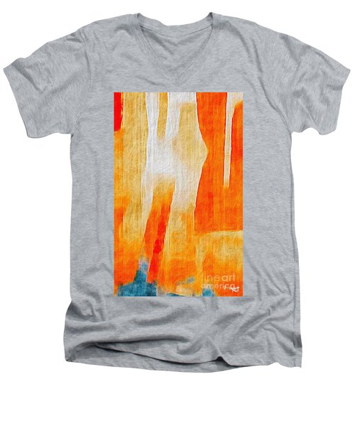 Men's V-Neck T-Shirt featuring the photograph Canyon by William Wyckoff
