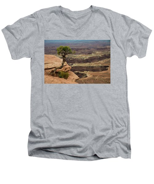 Men's V-Neck T-Shirt featuring the photograph Canyonlands by Gary Lengyel