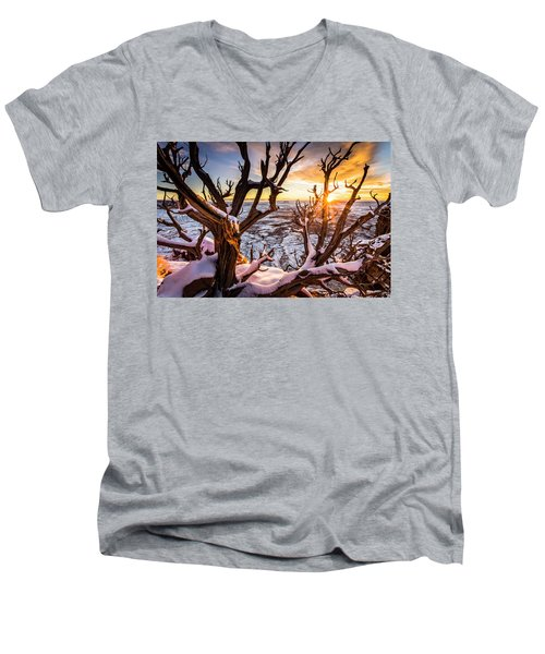 Canyonlands Winter Sunset Men's V-Neck T-Shirt