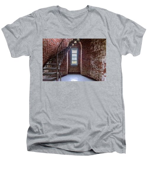 Cape Blanco Lighthouse Men's V-Neck T-Shirt