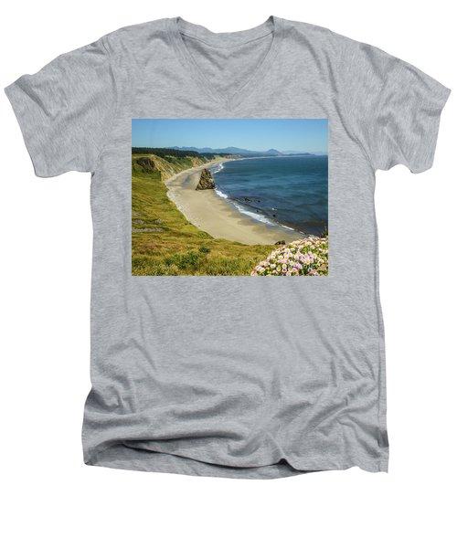 Cape Blanco On The Oregon Coast By Michael Tidwell Men's V-Neck T-Shirt