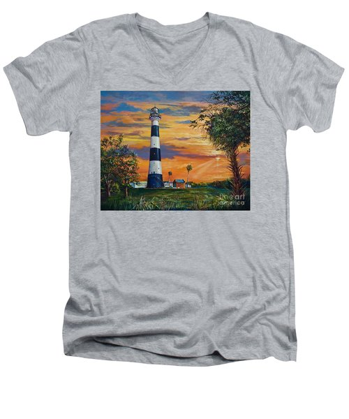 Cape Canaveral Light Men's V-Neck T-Shirt