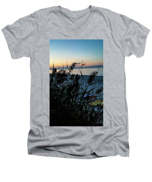 Men's V-Neck T-Shirt featuring the photograph Cape Cod Bay by Bruce Carpenter