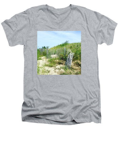 Cape Cod Men's V-Neck T-Shirt by Beth Saffer