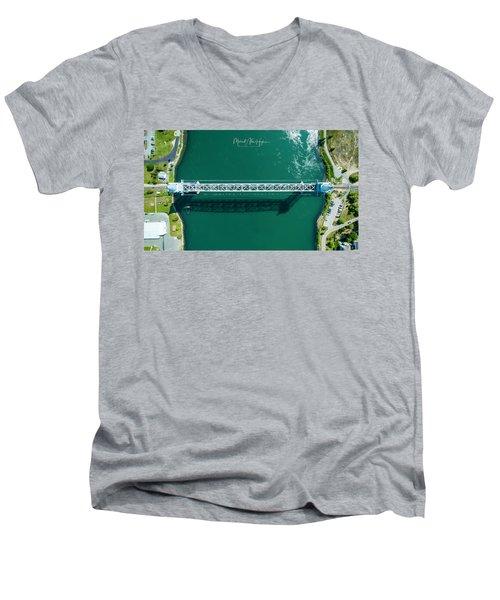 Cape Cod Canal Railroad Bridge Men's V-Neck T-Shirt