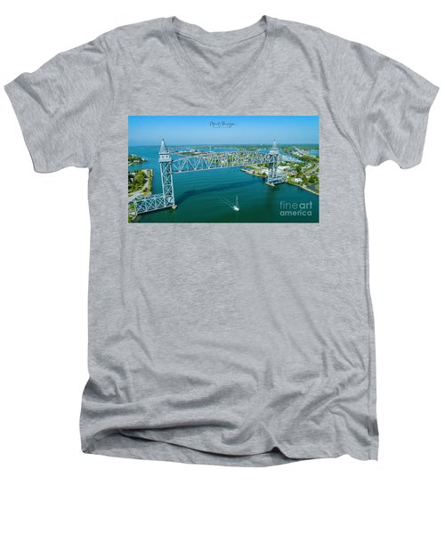 Cape Cod Canal Suspension Bridge Men's V-Neck T-Shirt
