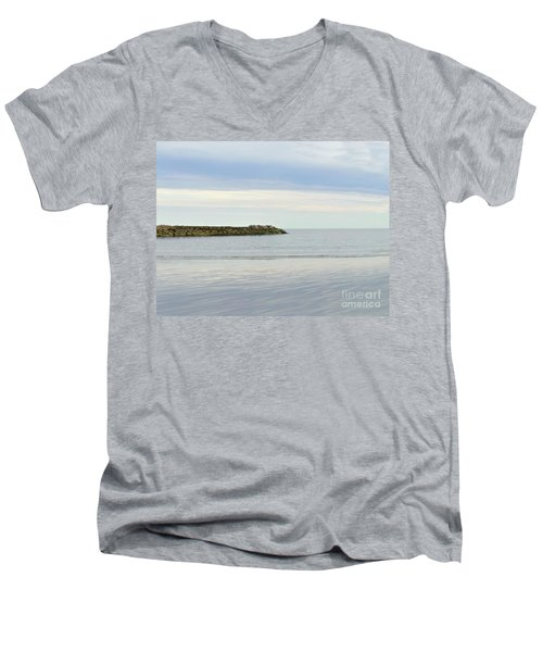 Cape Cod Jetty Sundown Men's V-Neck T-Shirt