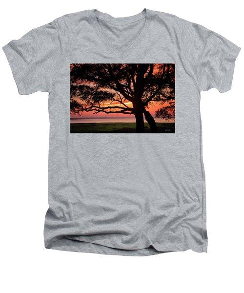 Cape Fear Sunset Overlook Men's V-Neck T-Shirt
