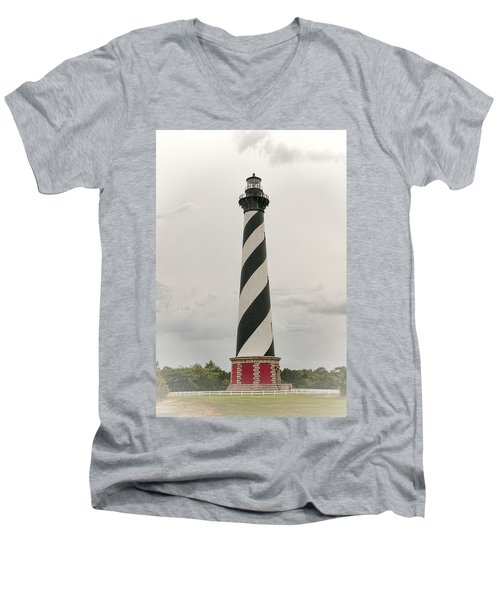 Cape Hatteras Light Men's V-Neck T-Shirt